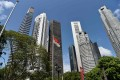 The Singapore central business district. Photo: AFP