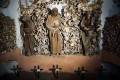 Displays in Rome's Capuchin crypt, which contains the skeletal remains of 3,700 monks. Photo: Getty Images