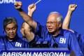 Malaysia's Najib Razak at an election rally in Kuala Lumpur in April 2018. Photo: AFP