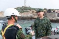 Shen Yi-ming pictured on a visit to troops on Quemoy island in October. Photo: EPA-EFE