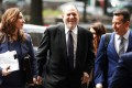 Film producer Harvey Weinstein arriving for a court hearing in New York in April 2019. Photo: Reuters