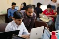 Rahul Namdev, left, teamed up with Pawan Gupta to create Betterhalf, an AI-powered matchmaking app that determines emotional, intellectual and social compatibility. While Chinese apps still dominate, Indian app developers are quickly catching up. Photo: Bloomberg