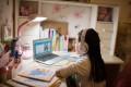 A girl using VIPKid online English lesson service. Photo: Handout