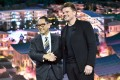 Toyota president and CEO Akio Toyoda (left) and Danish architect Bjarke Ingels speak about their smart city plan during a Toyota press event for CES 2020. Photo: AFP