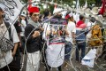 Indonesian Muslims protest last month against China's treatment of Uygurs. Photo: DPA