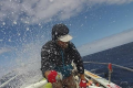 Kārlis Bardelis rowing from Peru, across the Pacific, to Asia. Photo: Handout