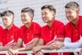 Alexander Yang (right) poses with fellow Hong Kong team members ahead of the Hong Kong Open. Photo: Ike Images