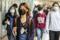 Students and staff at Chinese University embrace for the beginning of the second term wearing masks on Monday under the shadow of pneumonia fear. 06JAN20 SCMP/ Winson Wong
