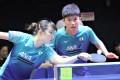 Japan's Tomokazu Harimoto and partner Hina Hayata playing at the 2019 Hong Kong Open. Photo: Chan Kin-wa