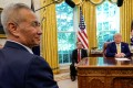 Chinese Vice-Premier Liu He meets US President Donald Trump in the White House in Washington on October 11. Photo: Reuters