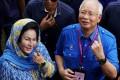 Rosmah Mansor and her husband, Malaysia's disgraced former prime minister Najib Razak. Photo: Reuters