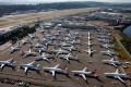 Grounded 737 MAX jets parked at Boeing Field in Seattle, Washington. Photo: Reuters