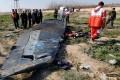 Debris of the crashed Ukraine International Airlines flight seen on January 8, 2020 in Tehran. Photo: Social media video via Reuters