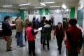 Voters prepare to cast their ballots in New Taipei City on Saturday. Photo: Reuters