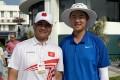 Tim Tang (left) with new HKGA recruit and Hong Kong Open star Alexander Yang. Photo: Handout