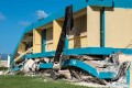 The Agripina Seda school is seen destroyed after an earthquake hit the island in Guanica, Puerto Rico on January 11. Photo: AFP