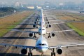 A line of Airbus A320 aircraft awaits take-off. Each year, global travel data provider OAG ranks the top 250 airlines in terms of punctuality. In 2019, it compiled data from over 50 million flights to determine which airlines were the most timely in getting passengers to their destinations. Photo: Getty Images