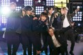 BTS perform at the Times Square New Year's Eve celebration in New York. Photo: Yonhap/AP