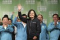 Taiwanese President Tsai Ing-wen celebrates her election victory with supporters in Taipei, Taiwan, on January 11. Photo: AP
