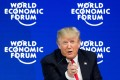 US President Donald Trump speaks during a discussion at the World Economic Forum meeting in Davos in January 2018. Photo: AFP