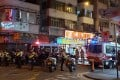 Police surround a flat in Mong Kok where an improvised explosive device was found on Tuesday night. Photo: Facebook