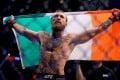 Conor McGregor celebrates his win against Donald Cerrone. Photo: Reuters