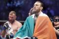 Conor McGregor (right) defeats Donald Cerrone in his mixed martial arts comeback at UFC 246. Photo: AP
