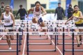 Vera Lui wins the first race of the season to qualify for next month's Asian Indoor Championships in the women's 60m hurdles. Leung Ching-yi (yellow) finishes second, while Shing Cho-yan comes third at Wan Chai Sports Ground. Photo: Dickson Lee