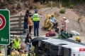 The scene of the crash. Photo: New Zealand Herald