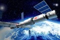 An artist's impression shows China's space station with Tianhe module at its heart and home to a permanent crew in Earth orbit. Photo: Handout