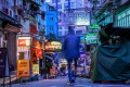 """A photograph by Michael Kistler called A Euphemism For Progress, featured in """"Cyberpunk's Not Dead"""", his solo exhibition of Hong Kong night scenes in saturated colours. Photo: Michael Kistler"""