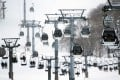 Skiers and snowboarders ride the lift at a ski resort in Hirafu village, Niseko. Photo: Bloomberg