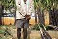 A sugarcane vendor pictured outside a wholesale vegetable market in Bangalore, India. Photo: AP