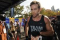 Actor Ryan Reynolds crosses the finish line at the 2008 New York City Marathon, which he completed in three hours and 50 minutes. Photo: NY Daily News Archive