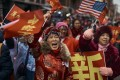 The Chinese diaspora proudly celebrates Lunar New Year abroad, as evidenced by this spirited crowd marking the festival in New York's Chinatown last year. Photo: AP Photo