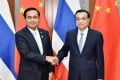 Thailand's Prime Minister Prayuth Chan-ocha pictured with his Chinese counterpart, Li Keqiang. Photo: Xinhua