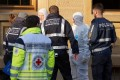 Police said that a man with a personal connection to the victims had been arrested. Photo: Reuters