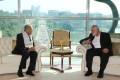 Malaysian Prime Minister Mahathir Mohamad (left) meets Hamas chief Ismail Haniyeh at Putrajaya. Photo: Prime Minister's Office of Malaysia