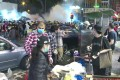 Riot police fire tear gas on Argyle Street near Langham Place in Mong Kok on Saturday January 25, 2020. Photo: RTHK