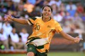 Sam Kerr of Australia is expected to feature for the Matildas in Tokyo 2020 women's football qualifiers moved to Sydney from China. Photo: Nike