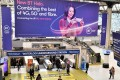 """A billboard advertising mobile telecommunication is displayed at the Waterloo underground station in London on Tuesday. Chinese tech firm Huawei has been designated a """"high-risk vendor"""" but will be allowed to build some elements of Britain's 5G network. Photo: AFP"""
