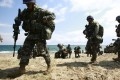 South Korean marines participate in annual drills with US forces.