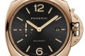 The Panerai Luminor Due Goldtech PAM01041 has a sandwich dial with cut-out numerals. Photo: Panerai