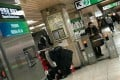 A picture of a Chinese man passed out in a subway station in Seoul that was shared on an online forum caused concern about the spread of coronavirus in South Korea. Photo: Screengrab