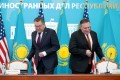 US Secretary of State Mike Pompeo and Kazakh Foreign Minister Mukhtar Tleuberdi at the Ministry of Foreign Affairs in Nur-Sultan, Kazakhstan. Photo: AFP