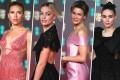 Scarlett Johansson, Margot Robbie, Renée Zellweger and Rooney Mara at the 73rd British Academy Film Awards in London. Photos: EPA