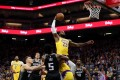 Los Angeles Lakers forward LeBron James dunks the ball against the Sacramento Kings. Photo: USA Today