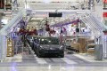 Tesla's electric vehicles on the assembly line at the carmaker's Gigafactory in Shanghai on Tuesday, January 7, 2020. Photo: Xinhua