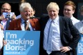 Boris Johnson with his father Stanley, who emailed details of his meeting with Chinese officials to the BBC. Photo: Getty Images