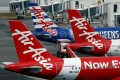 AirAsia planes sit on the tarmac at Kuala Lumpur International Airport, Malaysia. Photo: Reuters